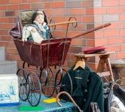 Old baby stroller. Stock Photos