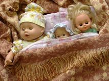 Old babydolls Stock Images