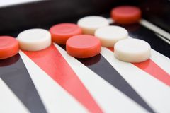 Old backgammon board Royalty Free Stock Images