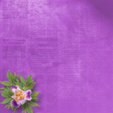 Old background with bunch of flower Stock Photography