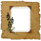 Old background with frame Royalty Free Stock Images