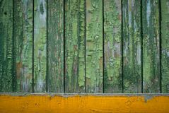 Old background with green paint Stock Image