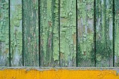 Old background with green paint Stock Photo