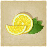 Old background with lemon Royalty Free Stock Photography