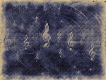 Old background of musical symbols Royalty Free Stock Photo