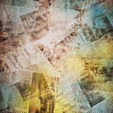 Old background with newspaper Stock Photos