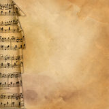 Old Background With Musical Border For Design Stock Images