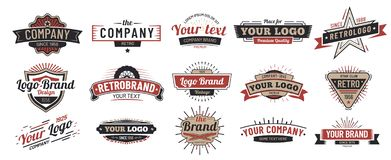 Free Old Badges. Vintage Sign, Retro Premium Badge And Logo Emblem Frame Vector Set Royalty Free Stock Photos - 149938728