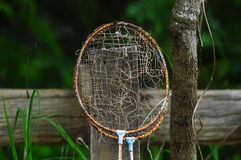 Old badminton racket Stock Photos