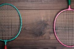Old badminton rackets Stock Photos
