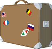 Old baggage case Royalty Free Stock Photo