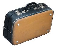 Old baggage case. Old black-yellow bsggage case from sixties Royalty Free Stock Image