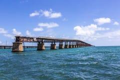 Old Bahia Honda Rail Bridge, Bahia Bay State Park, Florida Keys Stock Photos