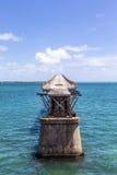 Old Bahia Honda Rail Bridge, Bahia Bay State Park, Florida Keys Stock Photo