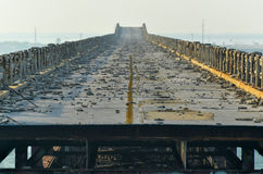 Old Bahia Honda Rail Bridge stock photography