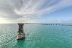 Old Bahia Honda Rail Bridge Royalty Free Stock Photography