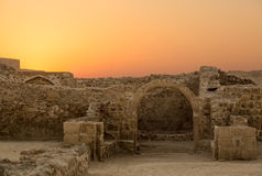 Old Bahrain Fort at Seef in late afternoon Royalty Free Stock Photography