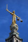 Old Bailey. London, UK - Central Criminal Court also known as Old Bailey. Justice statue Stock Photography