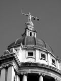 Old Bailey (monochrome). The Central Criminal Court fondly known as The Old Bailey, which until 1902 was Newgate prison is the highest  court for Criminal cases Royalty Free Stock Images
