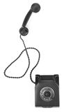 Old bakelite telephone with spining dial Royalty Free Stock Images