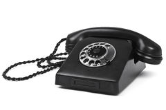 Old bakelite telephone on white Royalty Free Stock Images