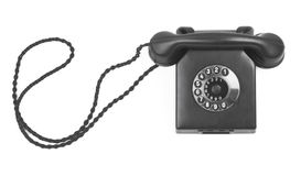 Old bakelite telephone on white Stock Photo