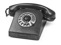 Old bakelite telephone on white Royalty Free Stock Photos