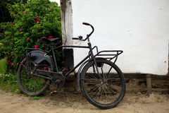 Old baker delivery bicycle Royalty Free Stock Image