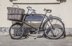 Old bakery bycicle. Old bycicle in Oamaru New Zealand Stock Photography
