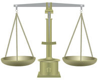 Old balance scales Royalty Free Stock Photography