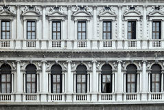 Old balconies Venice Stock Photography