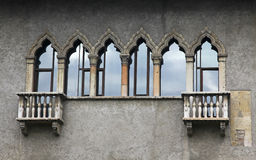 Old balconies in Verona Stock Image