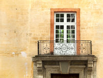 Old balcony of the building Stock Image