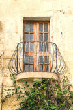 Old Balcony With Door And Windows Royalty Free Stock Images