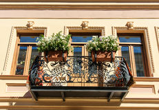 Old balcony of house in Tbilisi Georgia. Stock Image