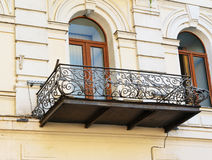 Old balcony of house in Tbilisi Georgia. Royalty Free Stock Photo