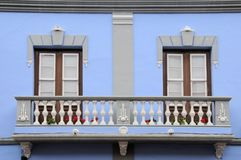 Old balcony in La Laguna, Tenerife, Spain Royalty Free Stock Image