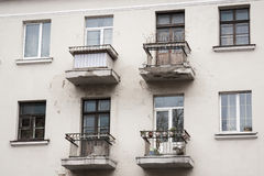 Old balcony in Minsk. Four old balconys in Minsk royalty free stock photo