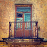 Old balcony, stylized photo by vintage Stock Images