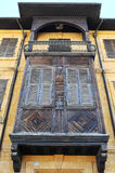 Old balcony and traditional wooden window. Stock Photography