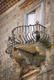 Old balcony in Tuscany stock photo