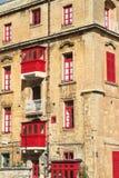Old balcony  in Valletta, Malta Stock Photo