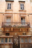 Old balcony  in Valletta, Malta Stock Images