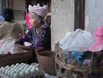 Old balinese woman, Bali royalty free stock image