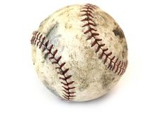Old ball. Isolated old base ball Stock Photos