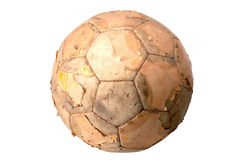 Old Ball. Isolated Old Ball stock photos