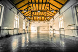 Old ballet hall. Old black ballet hall floor Royalty Free Stock Images