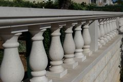 Old balustrade / Details. / Fragment of Architecture Stock Images