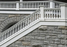 Old balustrade with stairs Royalty Free Stock Photography