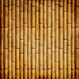 Old bamboo. Texture with grunge border Stock Photo